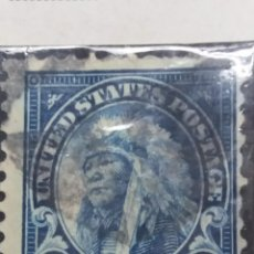 Sellos: U.S. POSTAGE AMERICAN INDIAN 14 CENT. STAMP. 1923. USED. Lote 142342698