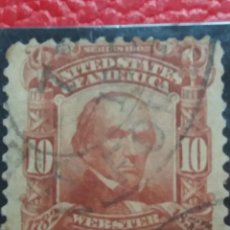 Sellos: U.S. POSTAGE WEBSTER 10 CENT. STAMP. 1902. USED. Lote 142346426