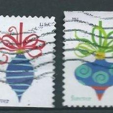 Sellos: ESTADOS UNIDOS 2011 HOLIDAY BAUBLES SET DE 4V. SC 4571-74 YV 4423-26A . Lote 142934226