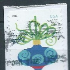 Sellos: ESTADOS UNIDOS 2011 HOLIDAY BAUBLES BLUE ONION-SHAPED F SC 4572 YV 4424A . Lote 142934242