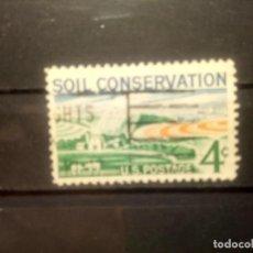 Sellos: EEUU 1959, CONSERVACIÓN DE LA TIERRA. YT 672. Lote 143332010