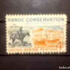 Sellos: EEUU 1961, PRESERVACIÓN DEL CAMPO. YT 711. Lote 143333498