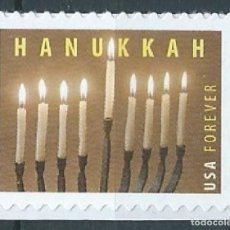 Sellos: ESTADOS UNIDOS 2013 HANUKKAH FOREVER MNH SC 4824 YV 4668. Lote 143940982