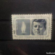 Sellos: EEUU 1964, ANIVERSARIO DE LA MUERTE DE KENNEDY. YT 762. Lote 144187818
