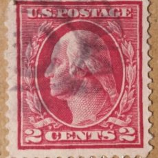 Sellos - Estados Unidos. 1912, George Washington. 2 cents. carmín (nº 183A Yvert). - 144223970