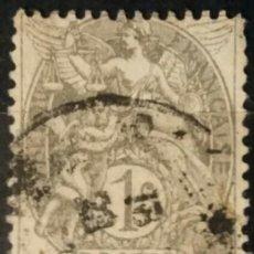 Sellos: FRANCIA. 1900, ALEGORÍA DE LA REPÚBLICA. 1 C. GRIS (Nº 107 YVERT).. Lote 144290954
