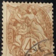 Sellos: FRANCIA. 1900, ALEGORÍA DE LA REPÚBLICA. 4 C. MARRÓN (Nº 110 YVERT).. Lote 144291754