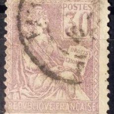 Sellos: FRANCIA. 1900, ALEGORÍA DE LA REPÚBLICA. 30 C. GRIS VIOLETA (Nº 115 YVERT).. Lote 144293038
