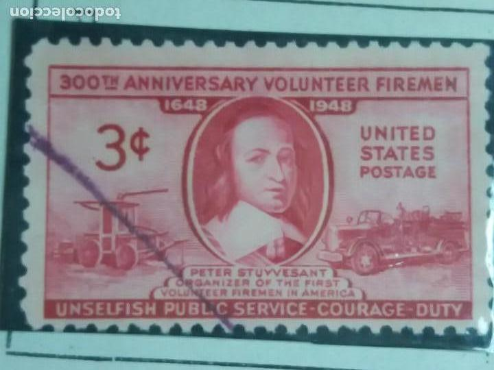 UNITED STATES OF AMERICA POSTAGE. 300 ANIVERSARIO VOLUNTEER FILEMEN 3 CENT. AÑO 1948. USADO (Sellos - Extranjero - América - Estados Unidos)