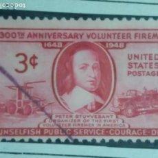 Sellos: UNITED STATES OF AMERICA POSTAGE. 300 ANIVERSARIO VOLUNTEER FILEMEN 3 CENT. AÑO 1948. USADO. Lote 145399818