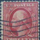 Sellos: UNITED STATES OF AMERICA POSTAGE. WASHINGTON TWO CENT. AÑO 1902. USADO. Lote 145428486
