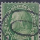 Sellos: UNITED ESTATES POSTAGE. FRANKLIN 1 CENT. AÑO 1820. USADO. Lote 145542474