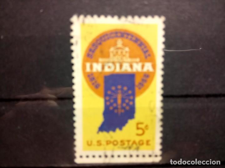 EEUU, USA 1962, ANIVERSARIO DE INDIANA. YT 801 (Sellos - Extranjero - América - Estados Unidos)
