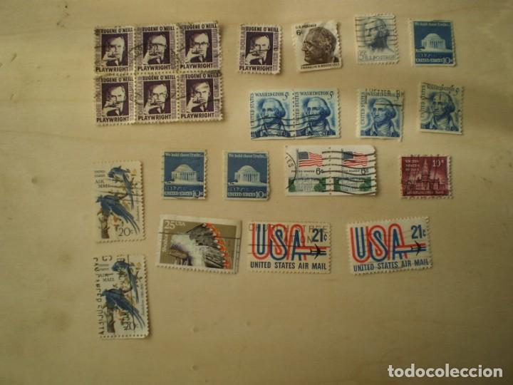 Sellos: lote 53 sellos estados unidos usados - Foto 2 - 145972870