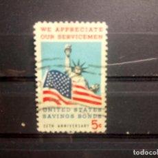 Sellos: EEUU, USA 1966, 25 ANIVERSARIO DE LOS AHORROS PÚBLICOS. YT 813. Lote 146049082
