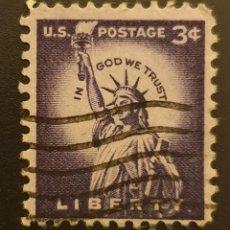 Sellos: ESTADOS UNIDOS - ESTATUA DE LIBERTAD. NUEVA YORK - 1954 - 3 C. Lote 146071998