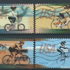 Sellos: ESTADOS UNIDOS 2012 CICLISMO SET DE 4V USED SC 4687-90 YV 4496-99 . Lote 147296934