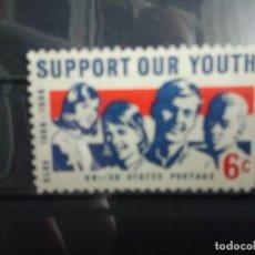 Sellos: EEUU, USA 1968, A FAVOR DE LA JUVENTUD. YT 845. Lote 148012086