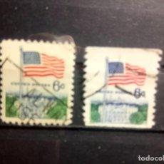 Sellos: EEUU, USA 1969, BANDERA, DENTADO Y SIN DENTAR HORIZONTAL, YT, 896/A. Lote 148083422