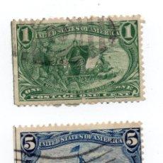 Sellos: SELLOS U.S 1898 DE 1 CENTIMOS Y DE 5 CENTIMOS USADOS. Lote 149610730