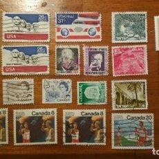 Sellos: SOBRE DE SELLOS ANTIGUOS SELLADOS GERAMONT - USA CANADA ISRRAEL N6. Lote 150806586