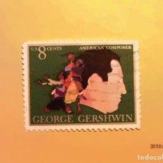 Sellos: USA - MÚSICA - GEORGE GERSHWIN - COMPOSITOR AMERICANO.. Lote 151480534