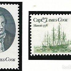 Sellos: YVERT 1186/87 NUEVO CON GOMA ORIGINAL. CAPITÁN JAMES COOK.. Lote 151706374