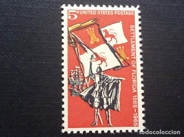 ESTADOS UNIDOS Nº YVERT 788*** AÑO 1965 4º CENTENARIO COLONIZACION ESPAÑOLA DE FLORIDA (Sellos - Extranjero - América - Estados Unidos)