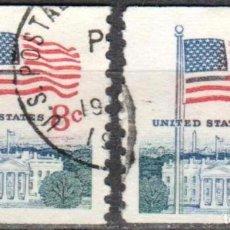 Sellos: USA-EE.UU. - DOS SELLOS - IVERT #923A - TEMA DE LA BANDERA - AÑO 1971 - USADOS. Lote 156517058