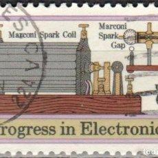 Sellos: USA-EE.UU. - UN SELLO - IVERT #994 - ***PROGRESO DE LA ELECTRONICA*** - AÑO 1973 - USADO. Lote 156518450