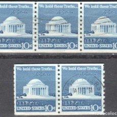 Sellos: USA-EE.UU. - CINCO SELLOS - IVERT #1008A - ***1970-1974 EDICION REGULAR*** - AÑO 1973 - USADOS. Lote 156519202