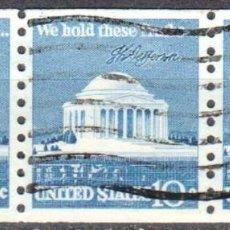 Sellos: USA-EE.UU. - TRES SELLOS - IVERT #1008A - ***1970-1974 EDICION REGULAR*** - AÑO 1973 - USADOS. Lote 156519406