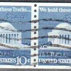 Sellos: USA-EE.UU. - DOS SELLOS - IVERT #1008A - ***1970-1974 EDICION REGULAR*** - AÑO 1973 - USADOS. Lote 156519558