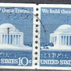Sellos: USA-EE.UU. - DOS SELLOS - IVERT #1008A - ***1970-1974 EDICION REGULAR*** - AÑO 1973 - USADOS. Lote 156519678