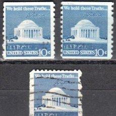 Sellos: USA-EE.UU. - CINCO SELLOS - IVERT #1008A - ***1970-1974 EDICION REGULAR*** - AÑO 1973 - USADOS. Lote 156519818