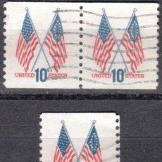 Sellos: USA-EE.UU. - CINCO SELLOS - IVERT #1009A - ***1970-1974 EDICION REGULAR*** - AÑO 1972 - USADOS. Lote 156522722