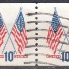 Sellos: USA-EE.UU. - CUATRO SELLOS - IVERT #1009A - ***1970-1974 EDICION REGULAR*** - AÑO 1972 - USADOS. Lote 156523078