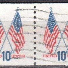 Sellos: USA-EE.UU. - DOS SELLOS - IVERT #1009A - ***1970-1974 EDICION REGULAR*** - AÑO 1972 - USADOS. Lote 156523650