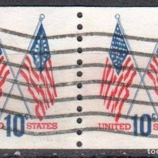 Sellos: USA-EE.UU. - DOS SELLOS - IVERT #1009A - ***1970-1974 EDICION REGULAR*** - AÑO 1972 - USADOS. Lote 156523778