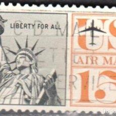 Sellos: USA-EE.UU. - UN SELLO - IVERT #PA59 - ***ESTATUA DE LA LIBERTAD*** - AÑO 1961 - USADO. Lote 156524846