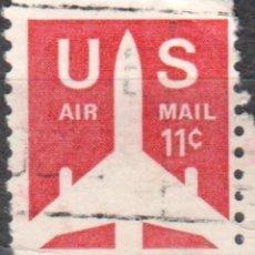 Sellos: USA-EE.UU. - UN SELLO - IVERT #PA74A - ***CORREO AEREO 1968-1973*** - AÑO 1971 - USADO. Lote 156527138