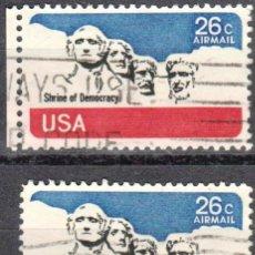 Sellos: USA-EE.UU. - DOS SELLOS - IVERT #PA81 - ***CORREO AEREO 1974-1976*** - AÑO 1974 - USADOS. Lote 156529770