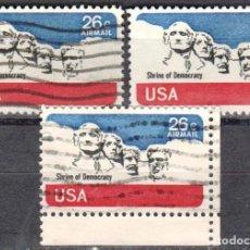Sellos: USA-EE.UU. - TRES SELLOS - IVERT #PA81 - ***CORREO AEREO 1974-1976*** - AÑO 1974 - USADOS. Lote 156530018