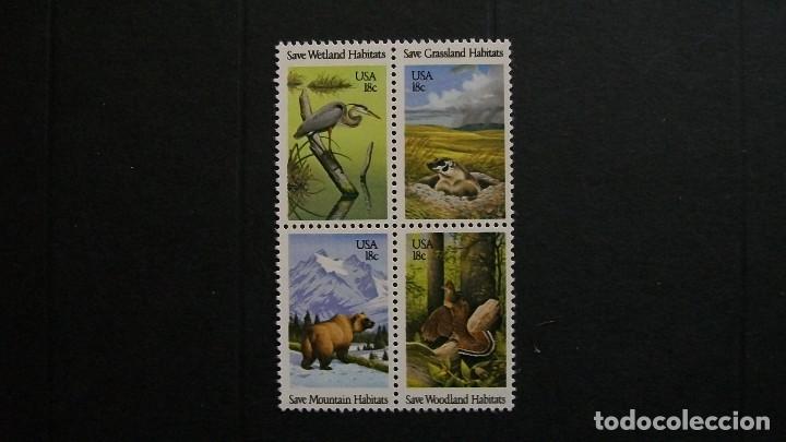 ESTADOS UNIDOS-1981-Y&T 1340/3**(MNH) (Sellos - Extranjero - América - Estados Unidos)