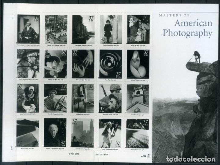 ESTADOS UNIDOS 2002 FOTOGRAFÍA AMERICANA HB DE 20V SC 3649SP YV F3333-3352 (Sellos - Extranjero - América - Estados Unidos)