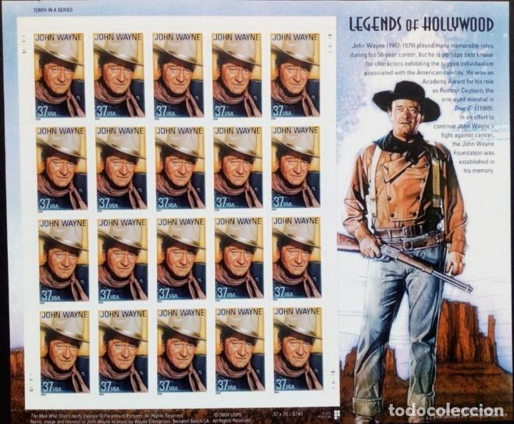 ESTADOS UNIDOS 2004 LEYENDAS DE HOLLYWOOD JOHN WAYNE HB DE 20V MNH SC 3876SP YV F3585 (Briefmarken - Internationale - Amerika - Vereinigte Staaten)