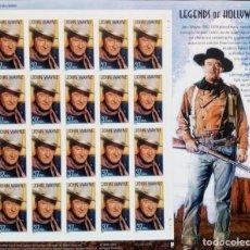 Sellos: ESTADOS UNIDOS 2004 LEYENDAS DE HOLLYWOOD JOHN WAYNE HB DE 20V MNH SC 3876SP YV F3585. Lote 156959406