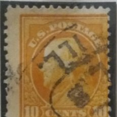 Sellos: UNITED STATES, FRANKLIN, 10 CENTS, AÑO 1917.. Lote 160295370