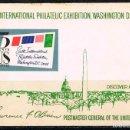 Sellos: ESTADOS UNIDOS Nº 1072, EXPOSICION MUNDIAL DE FILATELIA EN WASHINGTON, NUEVO *** EN HOJA BLOQUE. Lote 160380266