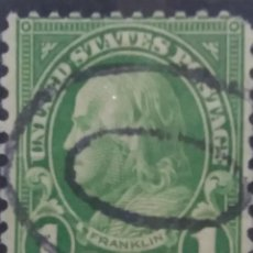 Sellos: UNITED STATES, FRANKLIN 1 CENTS, AÑO 1920,. Lote 160518518